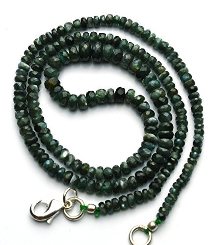 - JP_Beads 1 Strand Natural Alexandrite Chrysoberyl Facet 3 to 6MM Rondelle Bead Necklace 17
