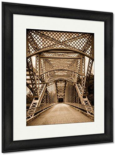 Ashley Framed Prints The Old Paper Mill Road Bridge Over Loch Raven Reservoir in Balt, Wall Art Home Decoration, Sepia, 40x34 (Frame Size), Black Frame, AG6330577 for $<!--$255.00-->