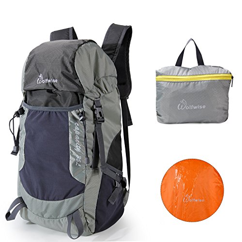 Price comparison product image WolfWise 35L Lightweight Packable Travel Hiking Backpack Daypack Foldable Ultralight Camping Backpack