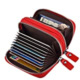 MaxGear RFID Double zipper wallet RFID Credit Card Holder for Women RFID Credit Card Wallet for Travel