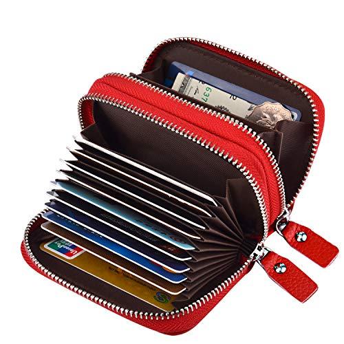MaxGear RFID Double zipper wallet RFID Credit Card Holder for Women RFID Credit Card Wallet for Travel by MaxGear