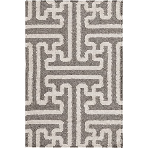 - Surya Smithsonian Archive ACH-1702 Flatweave Hand Woven 100% Wool Taupe Beige 2' x 3' Global Accent Rug