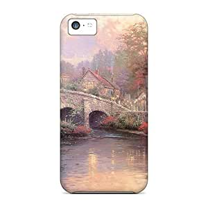 meilinF000Awesome Design Cobblestonebrook Hard Cases Covers For Iphone 5cmeilinF000