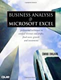 Business Analysis with Microsoft Excel, Conrad Carlberg and Conrad George Carlberg, 0789736640