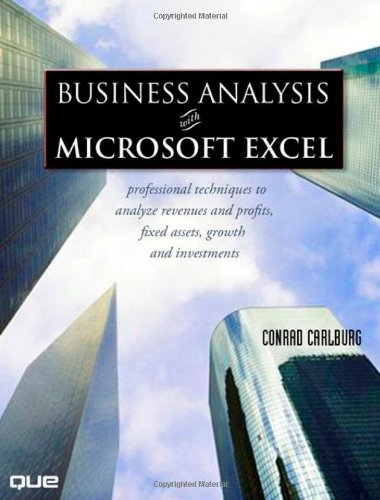 Business Analysis with Microsoft Excel (3rd Edition)