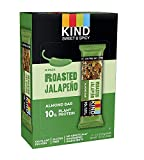 KIND Sweet and Spicy Bars, Roasted Jalapeno, Gluten Free, 10g Plant Protein, (24 Bars)