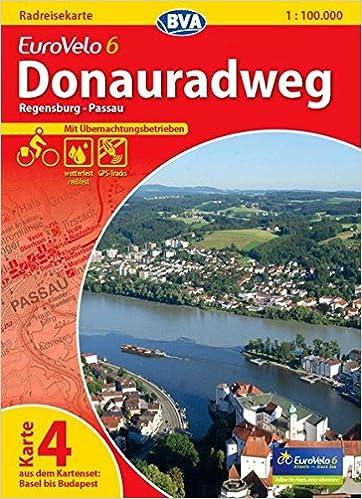Donauradweg Ulm Passau Karte.Eurovelo 6 Karte 04 Donauradweg 1 100 000 Regensburg