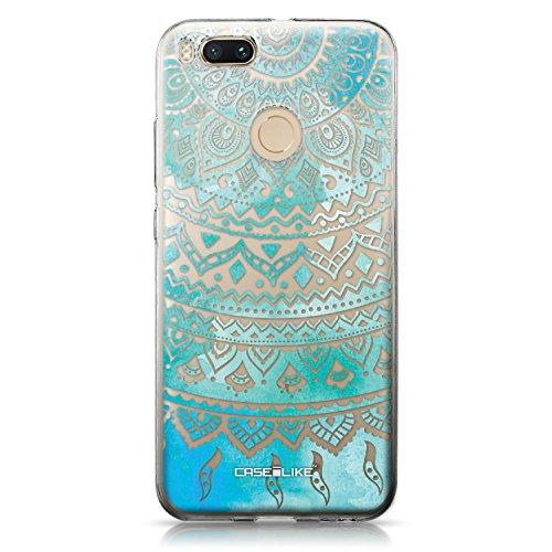 CASEiLIKE Funda Mi A1 , Carcasa Xiaomi Mi A1, Búho diseño gráfico 3318, TPU Gel silicone protectora cover Arte indio de la línea 2066