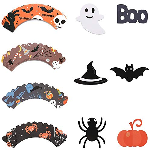 Wood Silhouette - 2019 Funny 24pcs Set Halloween Cake Pers Cupcake Food Sticks Kids Birthday Party Decoration Diy - Molds Weddings Bags Butter Paper Printer Carrier Viporama Stand -