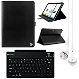 VanGoddy Arthur 12.2-inch Tablet Portfolio Case for Samsung Galaxy Note Pro & Tab Pro with Bluetooth Keyboard & White Headphones (Black)