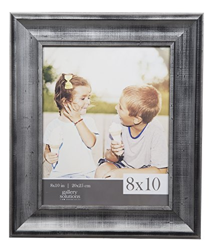 Gallery Solutions 8x10 Distressed Pewter Scoop Picture Frame (Pewter Photo)