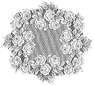 product image for Heritage Lace Tea Rose 15-Inch Round Doily, White, Set of 2