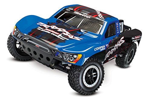 Traxxas Slash VXL 1/10 Scale 2WD LCG Short Course Racing Truck with TQi 2.4GHz Radio, TSM, and OBA, Blue