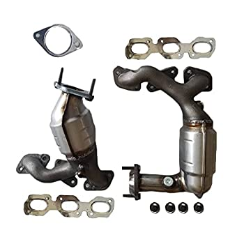 Image of Catalytic Converter Exhaust Manifold Assembly Front Rear Sides Fit for 2001-2007 Ford Escape 2001-2006 Mazda Tribute 2005-2007 Mercury Mariner 3.0L V6 Catalytic Converters