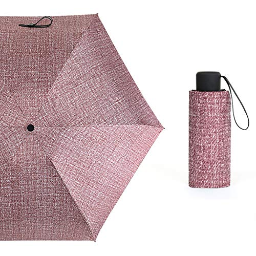 Mini Pocket Umbrella Uv Small Umbrellas Portable 5 Folding 18Cm Length Parasol Umbrella 10K Sunny Umbrella,03 Fuchsia