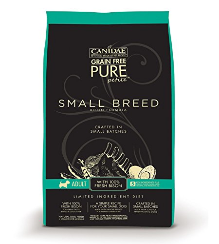 CANIDAE-Grain-Free-PURE-Petite-Small-Breed-Adult-Dog-Dry-Formula-with-Fresh-Bison-6-lbs