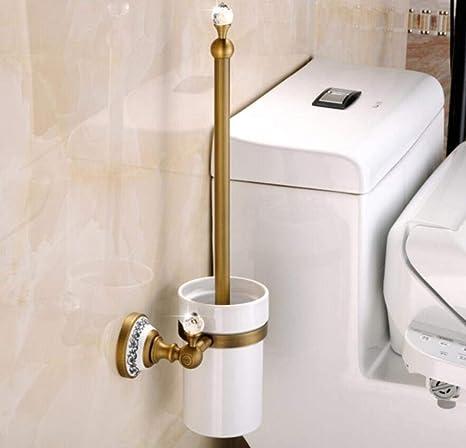 LGSYSYP Accesorios de baño/Europeo Retro Inodoro Cepillo y Soporte ...