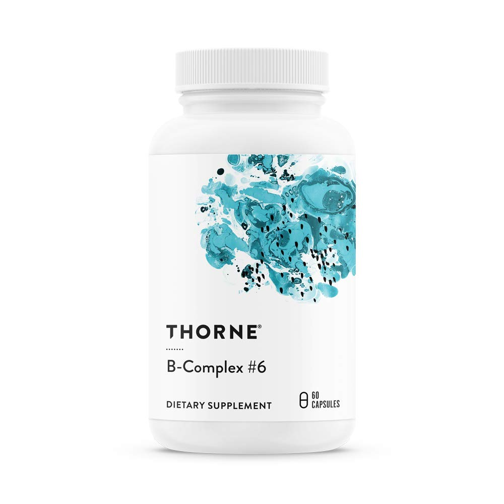 Thorne Research - B-Complex #6 - Vitamin B Complex with Active Forms of Essential B Vitamins and Extra B6-60 Capsules