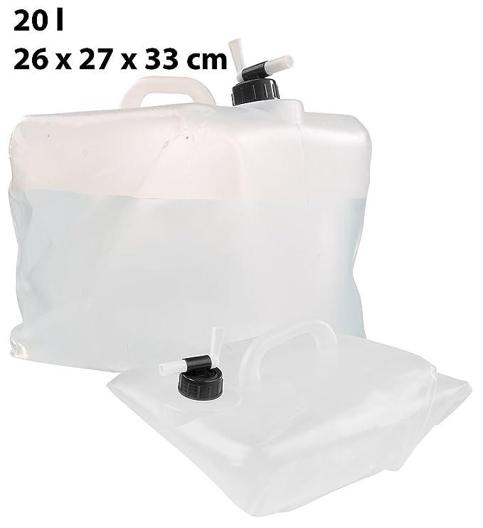 Semptec Urban Survival Technology falst barriles de agua: plegable - Bidón de agua con grifo, 5, 10 y 20 litros de Juego (Bidón): Amazon.es: Hogar