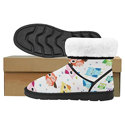 Scarponi Da Neve Womens Interestprint Stivali Invernali Comfort Dal Design Unico 18