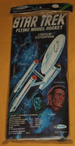 VINTAGE 1975 ESTES STAR TREK STARSHIP ENTERPRISE MODEL ROCKET!! by Star Trek