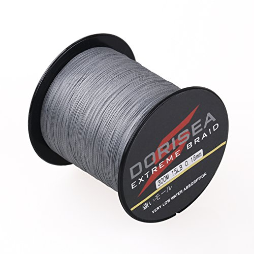 Dorisea Extreme Braid 100%Pe Braided Fishing Line 109Yards-2187Yards 6-300Lb Test Gray (100m109Yards 300lb/1.0mm(8Strands)) Review