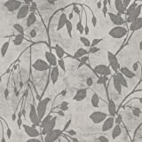 LP00339 - Lipari Leaf Trail Steel Grey Blendworth Wallpaper
