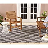 Home Dynamix Nicole Miller Patio Country Calla Indoor/Outdoor Area Rug 7'9''x10'2'', Modern Geometric Black/Gray