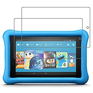 [Pack of 2] Gzerma for Fire 7 Screen Protector 7th Generation, Shatter Proof, Easy Installation Front Protective Cover Film for Amazon All-New Fire7 Kids Edition Tablet 2017 Release