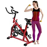 Nexttechnology Exercise Bike Stationary Bicycle Home Fitness Gym Cycle Indoor Workout Equipment with HD LCD Display (S300 Red-2) Review