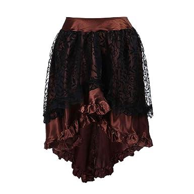 Mayyou - Falda de Tul para Mujer, diseño Floral, Color Negro ...