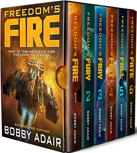 The Bestselling, Epic Space Adventure, Freedom's Fire - The complete series of 6 books, in one box set.It was never a question of if the aliens would come, it was only ever when. The first interstellar war, a generation ago, left humanity enslaved. N...