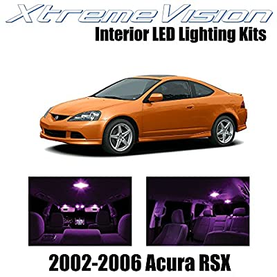 Xtremevision Interior LED for Acura RSX 2002-2006 (10 Pieces) Pink Interior LED Kit + Installation Tool: Automotive