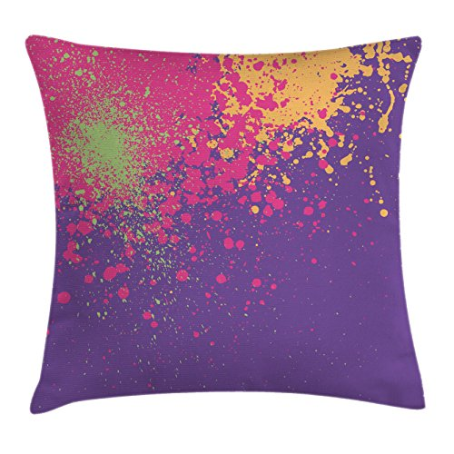 Abstract Throw Pillow Cushion Cover by Ambesonne, Colorful