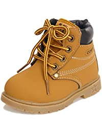 Waterproof Lace Up Boots Baby Boy Girl Hiking Snow Boots (Toddler / Little Kid )
