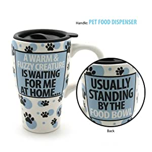 A Warm & Fuzzy Creature is Waiting for me at Home Travel Mug 16 Ounce