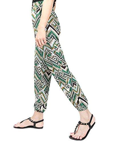 Elastica Di Harem Pantaloni High Pattern Con Eleganti Tempo Vita Libero Grazioso Casuale Waist Estivi 16 Trousers Stampate Baggy Colour Battercake Tasche Moda Donna Lunga Donne qH7wq1d