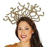 WickedFun Mythical Medussa Greek Goddess Ladies Gold Snake Headdress HeadBand Halloween Crown Hair Accessories