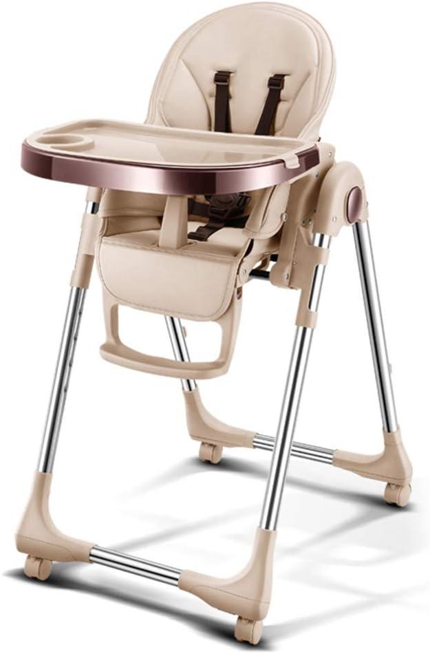 椅子折り畳み式携帯ベビーシートのダイニングチェアダイニング赤ちゃん一に子ども多機能折り畳み式携帯ベビーシート四つの餌ベビーダイニングチェア,Champagne