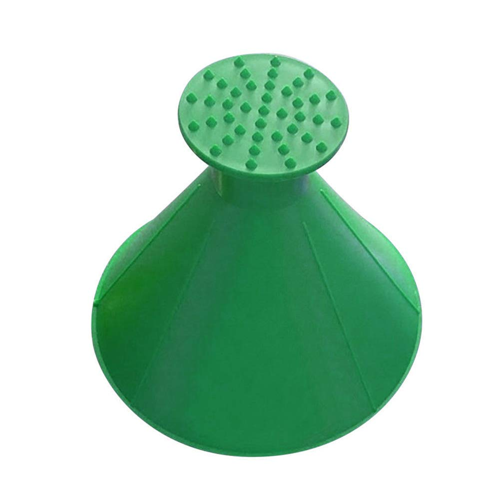 LYCOS3 Windshield Ice Scraper Multi-function Car Fueling Funnel Windshield Wiper Cone Shaped Outdoor Windshield Magic Snow Remover Car Tool (Green)