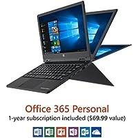 Direkt-Tek DTLAPY116-1-BK 11.6 4GB 32GB Convertible Touchscreen Laptop, Windows 10 Home, Black