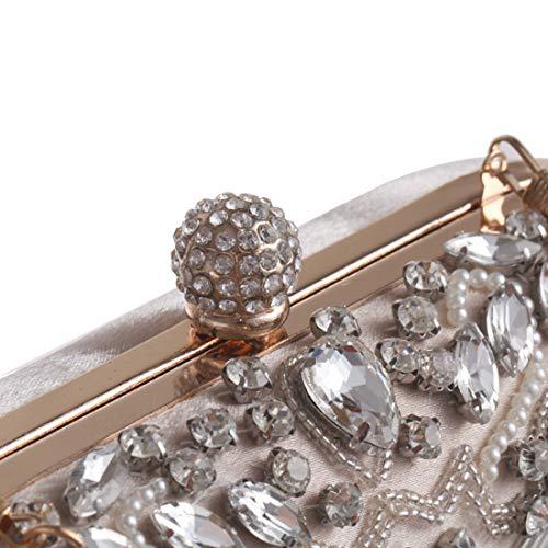 Main Main à Robe Apricot perlé à Diamond Sac Mariage Color Sac de soirée Femmes Black KERVINZHANG Sac de Main Clutch à Sac BqvWOSwp