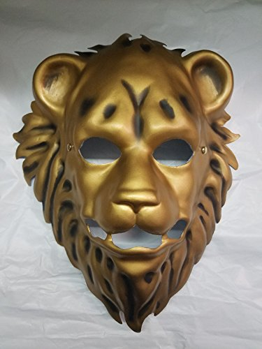 Forum Novelties 73394 Unisex-Adults Mask-Lion with Elastic, Gold, Standard, Multicolor