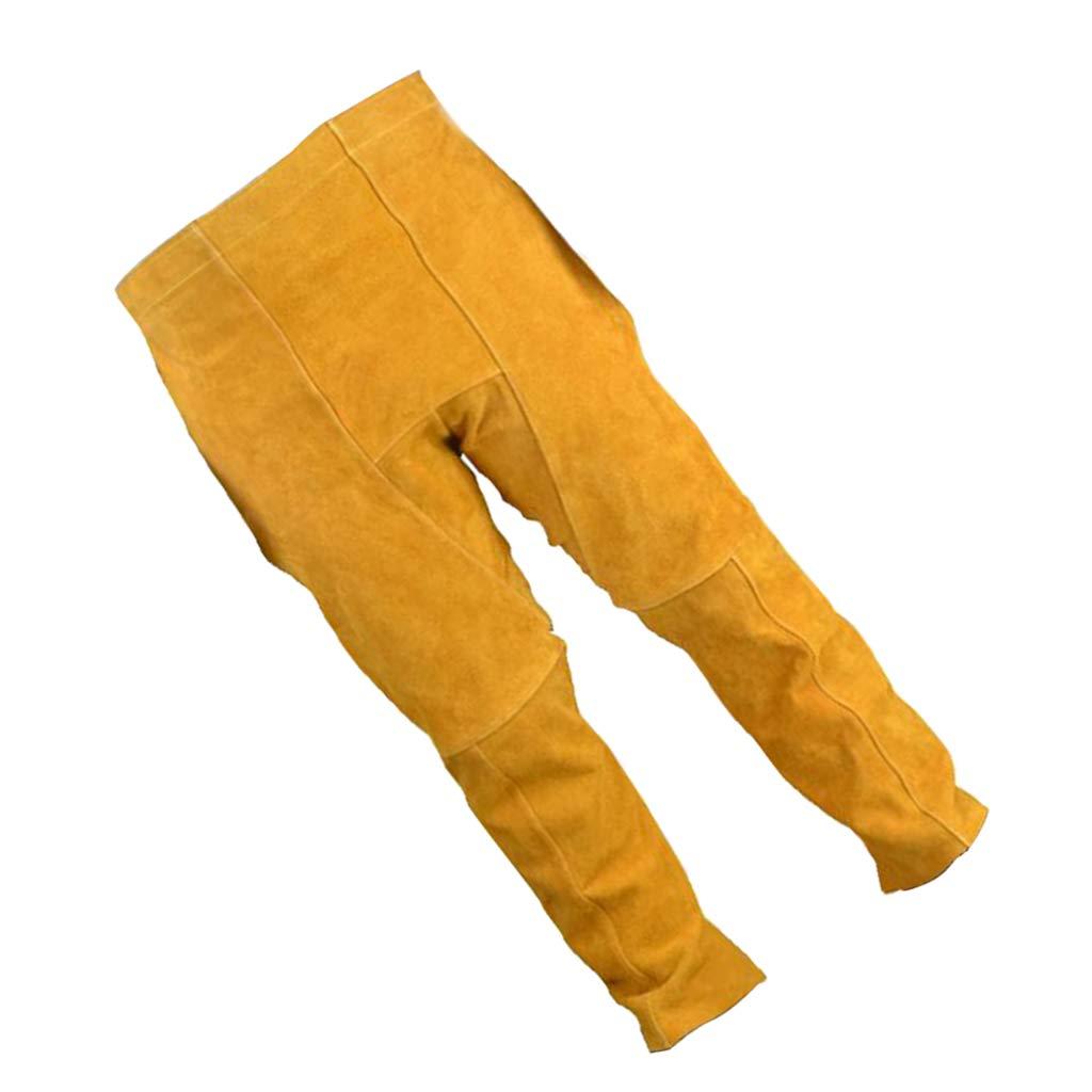 Fenteer Vestito Pantaloni Saldatura Protettiva Spessa Saldatore Morbida Acciaio Taglio