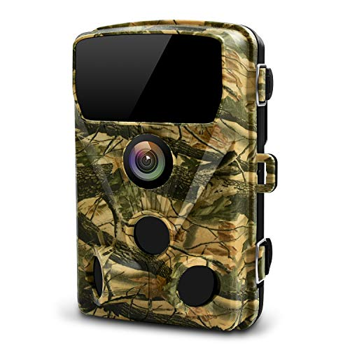 LETSCOM 14MP Trail Game Camera with 3 PIR Sensors, Waterproof HD Wildlife Scouting Cam 42 Low-Glow IR LEDs, 120° Wide Angle for Hunting and Outdoor Surveillance (Yellow)