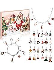 Kids Advent Calendar 2021, 25 PCS DIY Jewelry Christmas Advent Calendar 2021 for Girls Countdown Calendars, Bracelet Necklace With 23pcs Pendants Children Christmas Gift