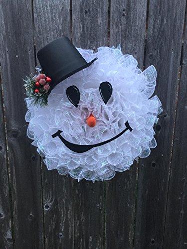 Snowman wreath (Flower Snowman Wreaths)
