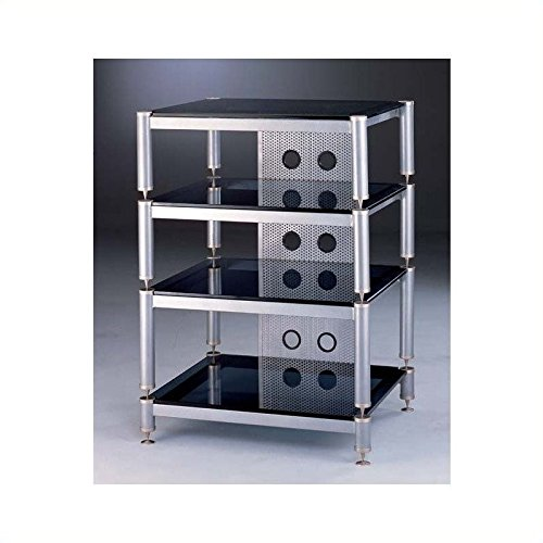 VTI BLG Series 4 Shelf Audio Rack - Silver / Silver / Frosted