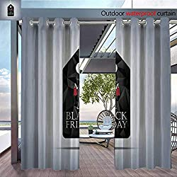 QianHe Outdoor CurtainBlack-Friday-Sale-Template-Holiday-Sales-Background-Price-tag-Symbol.jpg Room Darkening Waterproof Curtain for Indoors and Outdoor W72 x L96(183cm x 245cm)