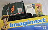 Disney IMAGINEXT Pixar Toy Story Tri-County Sanitation Garbage Truck w Woody and Alien Figures (2012 Fisher Price)